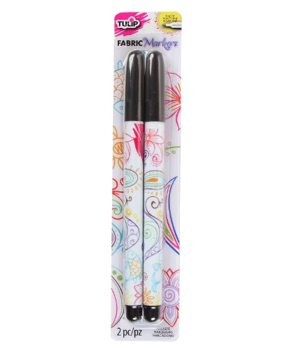 I Love To Create Tulip Writer Fabric Markers 2/Pkg-Black