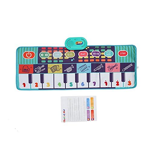 """Tapete de música para Crianças, 39,4""""x 14,2"""" Esteiras musicais, Crianças Piano Mat Tocar Toque Cobertor Teclado Playmat, Educacional Dança Esteira Aniversário Musical Brinquedos para Crianças(1)"""