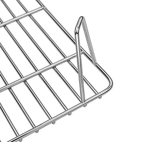 QuliMetal Grill Rack for Green Mountain Grill GMG-6016 Upper Rack for Davy Crockett Pellet Grill, Green Mountain Grills GMG Warming Grate Accessories Warming Rack Replacement Part, 14 x 10 x 3.5 Inch