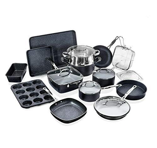 Granite Stone Cookware - Bakeware Sets (20 Piece Set)
