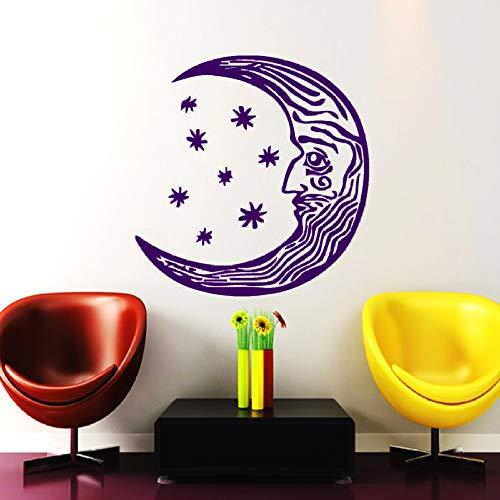 xingbuxin Halbmond Wandtattoo Ethnischen Stil Wohnzimmer Vinyl Spezielle Gesicht Design Wandaufkleber Abnehmbare Kunstwand Symbol Decor 4 42x42 cm