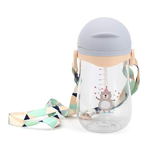 con agarre suave y cómodo Taza de paja para niños pequeños Presión de aire equilibrada con orificio de ventilación 100% nuevo para niños y(Strap-Interstellar Gray 360)