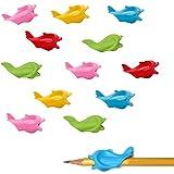 12 Piezas Ayuda Escribir Niños, Agarres Lápices, Empuñaduras de Lápiz de Silicona, para Niños, Estudiantes, Adultos, Corrector Agarre Bolígrafo Silicona (Color Aleatorio)