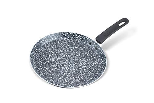 Pancake Pfanne 24 cm, Crepe Pfanne Induktion- Aluminium mit Keramik-Marmor-Beschichtung, Pfannkuchen Pfannen für Gas-, Elektro- und Induktionsherde (Keramik-marmor_2)