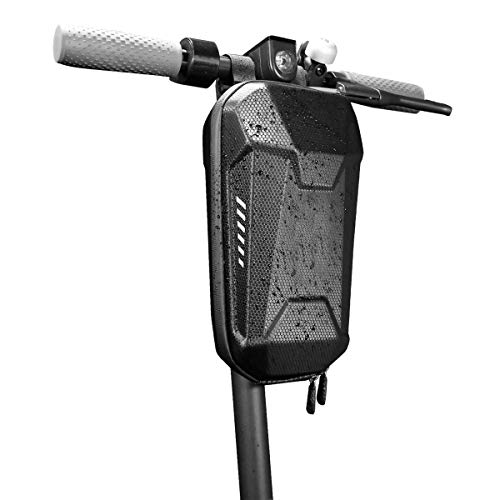Linjin Commuting Electric Scooter Bag,Hard Shell Waterproof Scooter Storage Bag for Kick Scooters Folding Bike (2L)
