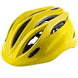 Crazy Mars Kids Bike Helmet Boys Girls Bicycle Skateboard Helmet Yellow M