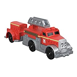 Includes die-cast metal Flynn fire enginewith movable ladder Features plastic connectors to attach to other Push Along and Motorized TrackMaster engines, vehicles, cargo cars or tenders (sold separately and subject to availability) Highly detaile...