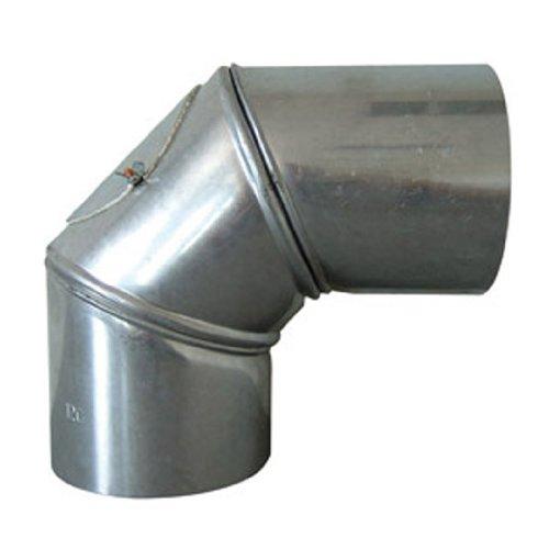 Rewwer-Tec 332067/030812 Universalknie Fal mit Tür 90°, 130 mm Durchmesser, drehbar