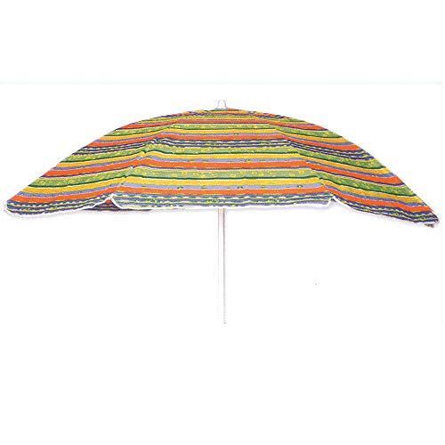 Ombrellone da spiaggia in tnt diam. 200cm, ombrellone mare portatile con custodia con tracolla, ombrellone spiaggia Ø 2M. in acciaio con snodo in plastica,ombrellone per spiaggia multicolor Rapallo/3