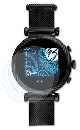 Bruni Schutzfolie kompatibel mit Fossil Sloan HR 4. Generation Folie, glasklare Bildschirmschutzfolie (2X)