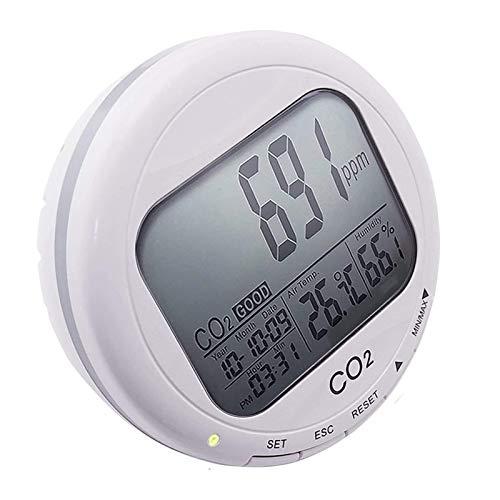 LILIS Carbon Monoxide Meter 3 in 1 Kohlendioxid/relativer Luftfeuchtigkeit/Temperaturzähler, CO2-PPM RH C/F Indoor Air Quality Monitor, für Heimwachsen Wachsender Raum