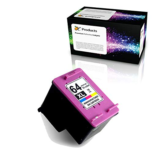 OCProducts Refilled Ink Cartridge Replacement for HP 64 64XL ( Color , 1 pk )
