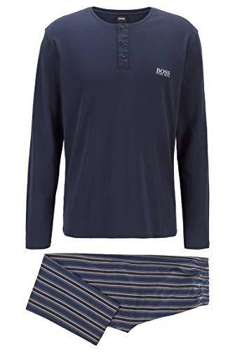 BOSS Herren Premium Long Set Geschenkbox mit Pyjama aus Baumwolle mit Metallic-Elementen