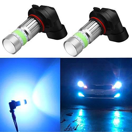 Alla Lighting HB4 9006 LED Fog Lights Bulbs 8000K Ice Blue 2800lm Xtreme Super Bright COB-72 12V Replacement
