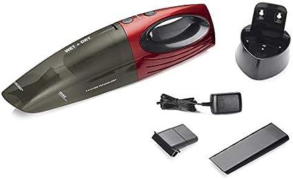 Silvercrest - Aspiradora de mano (batería de iones de litio, aspiración en seco y en mojado), color rojo rojo: Amazon.es: Hogar
