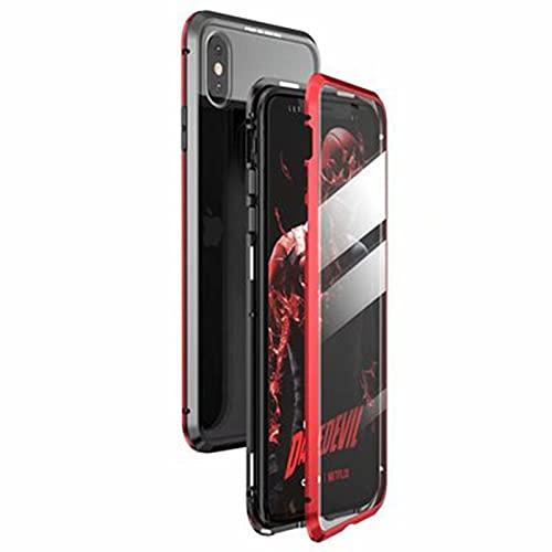 Fundas y Carcasas para teléfonos móviles Adecuado para el Estuche magnético de Vidrio metálico de Doble Cara iPhoneXSMAX,Red, iPhone XSmax
