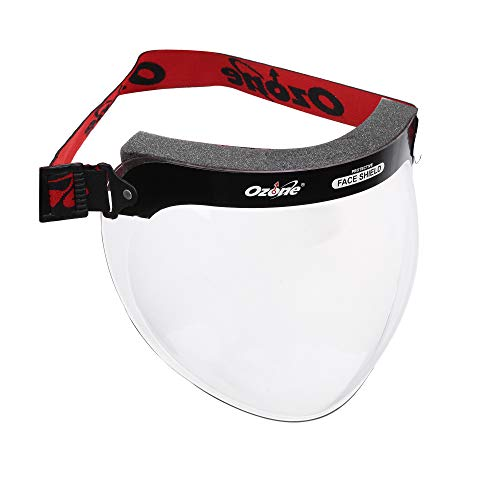 Ozone Face Shield 2.0 with Adjustable Elastic Strap Protective Transparent Cover Full Face Visor with Head and Eye Protection For Men Women (Pack of 5)