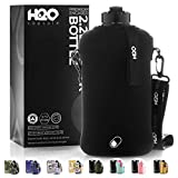H2O Capsule 2.2L Half Gallon Water Bottle with Storage Sleeve – Tritan BPA Free Large Water...