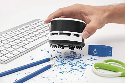 Wedo 20520101 Aspirateur de table avec batterie Noir/Blanc