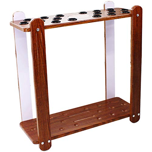 Movable Billiard Cue Rack,It Can Keep It Tidy And Prevent Damage To The Billiard Pool Cue,Optional Manual Installation Of Billiard Cue Racks With 6 To 18 Holes(Size:Vertical 18-hole-red)
