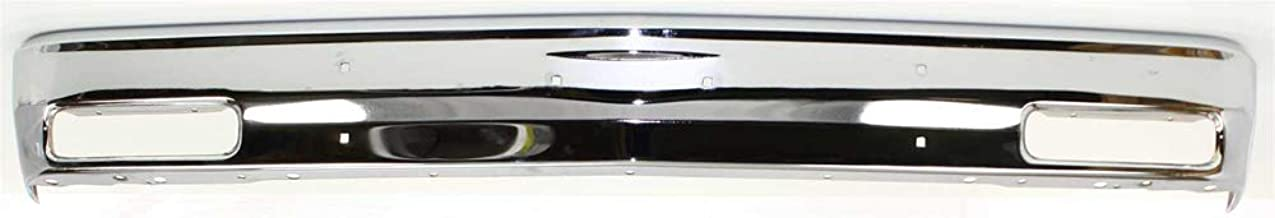 Front Bumper Compatible with CHEVROLET S10 BLAZER 1983-1994/S10 PICKUP 1982-1990 Chrome