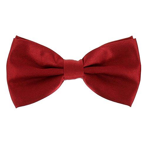 cravateSlim Noeud Papillon Bordeaux - Noeud Papillon Homme Couleur Uni - Accessoire Chemise et Costume - Mariage, Cérémonie