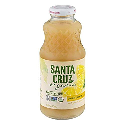Santa Cruz Organic 100% Lemon Juice, 16 Ounces
