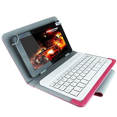 PANPAN Teclado de la Tableta Teclado Universal Bluetooth con Estuche de Cuero y Soporte Compatible para Ainol/PIPO/Ramos de 7.0 Pulgadas / 7.8 Pulgadas / 8.0 Pulgadas Tablet PC (Apto Compatible pa