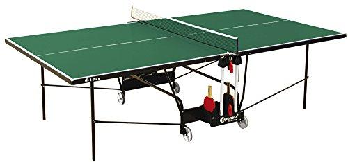 Sponeta HobbyLine Tischtennisplatte, für den Außenbereich, wetterfest, raumsparend, S1-12e grün