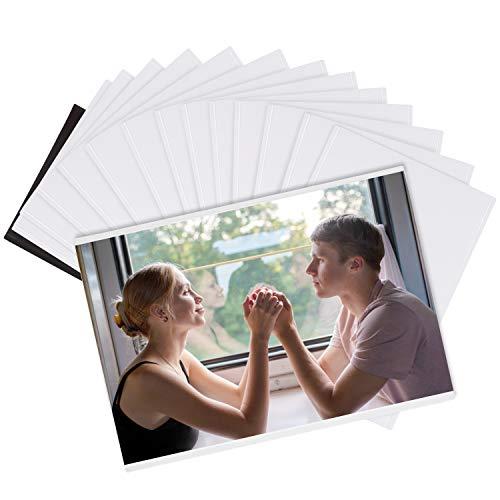 Magnetische Bilderrahmen Blanko - 14 Stk Kühlschrank Magnet Fotorahmen für Bilder 10,7x16,5cm – Kühlschrankmagnete für Fotos – Fotomagnete ideal für Familienbilder, Portraits, Kinder, Basteln