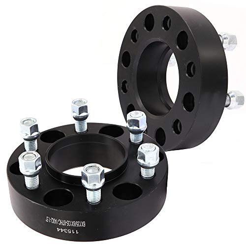 ECCPP 2X 1.5 inch HubCentric Wheel Spacers 6 Lug 6x135mm to 6x135mm 14x2 Fits for Ford F150 Raptor Ford Expedition