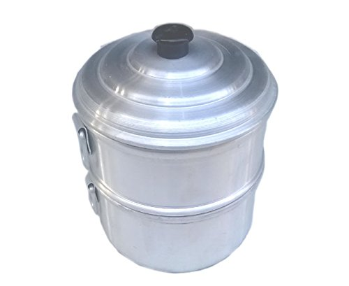 Zmatoo Heart patients aluminum momo steamer/steam cooking steamer/boiled food/tamale steamer 1 strainer and one bowl/size 8.00 Inch
