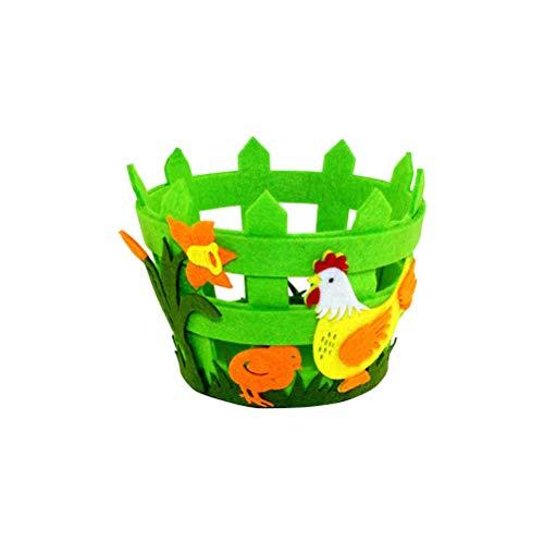 Amosfun Cestas de Pascua, Tela no Tejida, canastas, Adornos artesanales (Color y Estilo al Azar)