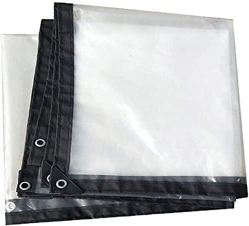 zhoufeng Toldo toldo Pintura Transparente a Prueba de Agua Lona Claro Lona de plástico Láminas de Lona Impermeable Tienda Impermeable Cubierta Impermeable Pesada Práctico paño de Lluvia