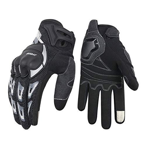 Dgtyui Guantes de Moto Guantes de Moto Impermeables a Prueba de Viento para Hombre Guantes de Moto con Pantalla táctil -Negro XL