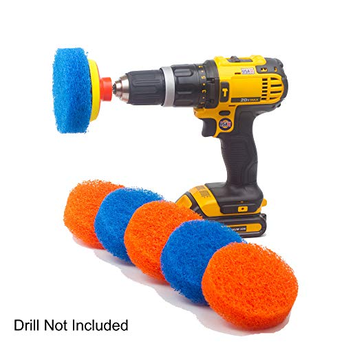 Bathtub Accessories - Scrubza Bathroom & Kitchen Cleaning Drill Brush Accessory