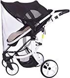 Toldo Protector Solar Universal para Cochecito de Bebé - Bebé Coche Carritos de viaje Paseo Sombrilla Parasol Protección UV 50+ con Malla Transpirable (Con mosquitera)