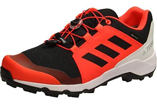 adidas Terrex GTX K, Zapatillas de Hiking Unisex Adulto, NEGBÁS/NEGBÁS/Rojsol, 39 1/3 EU
