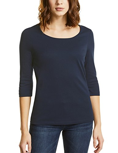 Street One Damen Pania T-Shirt, Blau (deep Blue 11238), 42