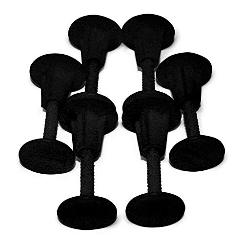 South Bay Board Co. - Soft Top Surfboard Fin Plug Kit - Set of 6 Plugs and Screws in Black - Custom Molded ABS Fin Plugs - Turn Your Foam Surfboard Into a Finless Surfboard or Single Fin Setup