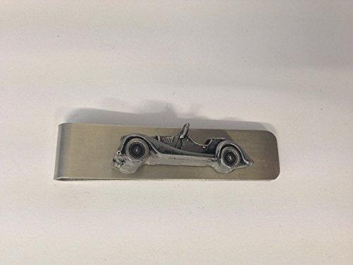 Clip de dinero de acero inoxidable con emblema Morgan +8 efecto peltre 3D ref153