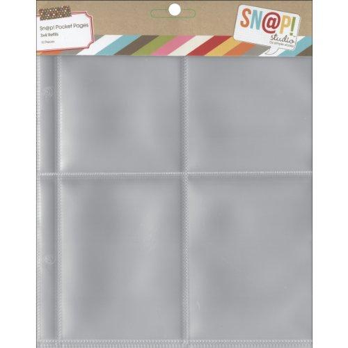 Mousqueton Simple étages Poche Pages pour 6 x 20,3 cm classeurs, Multicolore, 0.63 x 19.05 x 23.24 cm