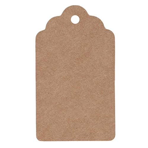 50PCS Natural Brown Kraft Tags Leather with Pure Color Jute Tags for Clothing Luggage Label Hand Made 4 * 7cm 4 * 9cm,4x7cm