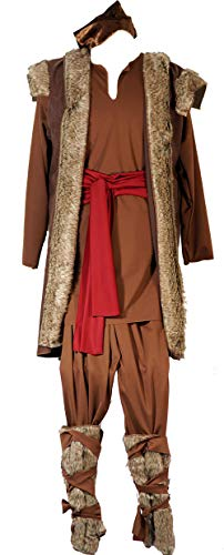Stage-Panto-Theatre-World Book Day Frozen Kristoff Viking Men's Costume (Small) Brown
