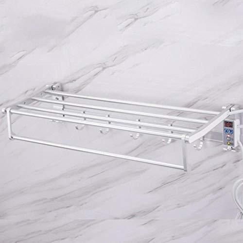 Estante de toalla de calefacción eléctrica termostática inteligente de 75 W 220 V, purificación de aniones con estante de secado de toallas de sincronización