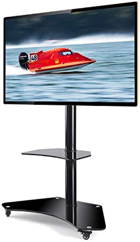 RFIVER Universal Mobil TV Stnder mit Rollen Rollbar für 32-65 Zoll Trolley Standfu Schwenkbar Hhenverstellbar für LCD LED OLED Plasma TV TF4001