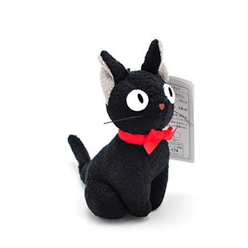 XKMY Llavero personalizado Hayao Miyazaki Servicio de entrega de peluche negro lindo mini gato negro Kiki peluche llavero colgante (color: negro, altura: 12 cm)