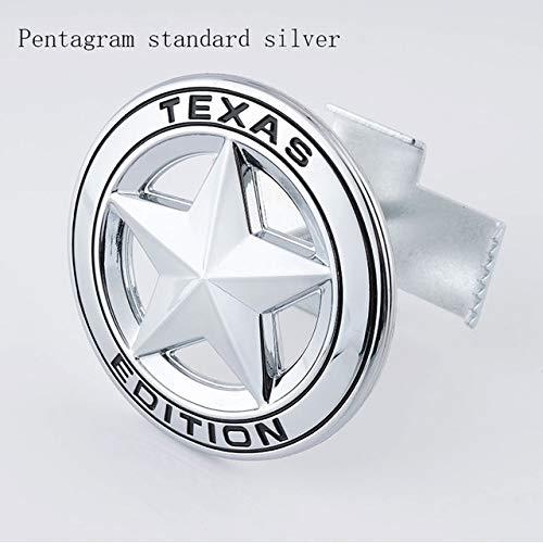 NYSCJJJ Auto-Frontgrill-Emblem-Aufkleber Zubehör for Jeep Wrangler Grand Cherokee Kommandant Renegade Freiheit Compass Patriot jk tj jl (Color Name : Grille SilverBlack)