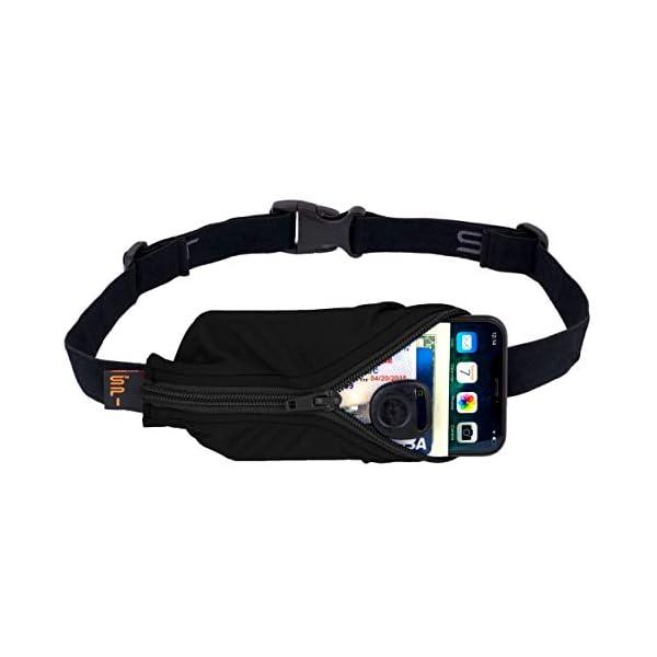 SPIbelt Running Belt Large Pocket, No-Bounce Waist Pack for Runners, Sport Pouch...