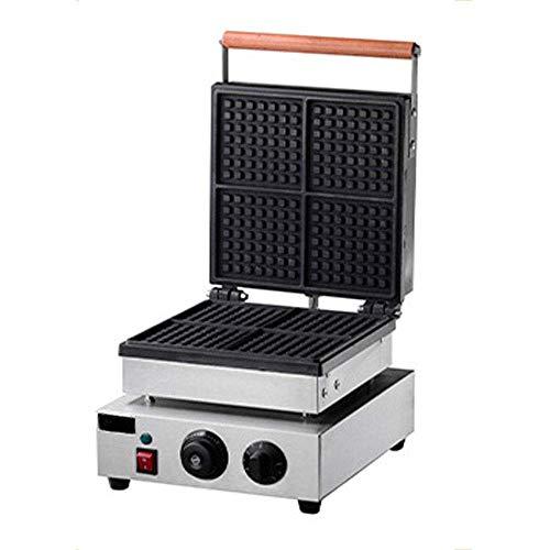 AISHANG Kommerzieller klassischer belgischer Waffeleisen-Antihaft mit Temperatur- und Zeitsteuerung für Flauschige goldene Waffeln, Hash Browns, Zimtschnecken, Omelett, Mittagessen, Snacks, Quadrat,
